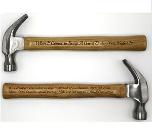 Personalized Hammer ~ Laser Engraved Hammer w/ Your Personal Words ~ Nailed