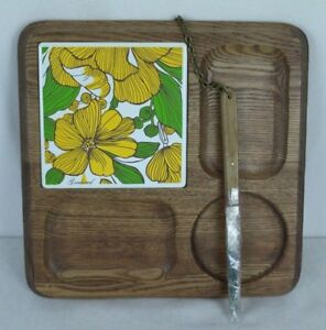 Goodwood Cheese Board Wood Serving Tray With Knife Made Japan Footed
