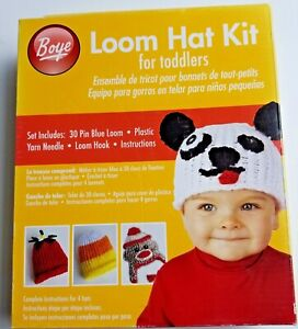 Boye Toddler Loom Hat Kit With Patterns Puppy Strawberry Candy Corn Sock Monkey