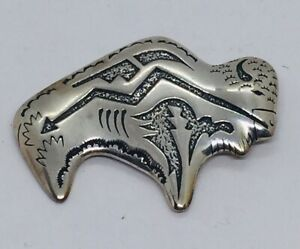 Tommy Singer For Carolyn Pollack Relios Sterling Silver Buffalo Pin Pendant $125.00