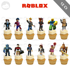 12 Roblox Cupcake Cake Toppers Food Picks Favor Birthday Party Kid Gamer