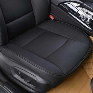 PU Leather Car Interior Seat Cover Protector Cushion Front Cover Universal Black $27.99