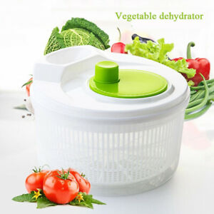 1X Large Plastic Salad Spinner Leaf Dryer Lettuce Veg Drainer Dressing Herb Home