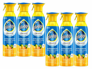 Pledge Multi-Surface Everyday Antibacterial Cleaner 9.7oz Aerosol Citrus 6-Pack