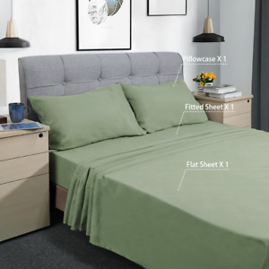 Bed Sheet Set, 3 Piece, Twin XL Set Sheets, Deep Pocket, Ultra Soft 1800 Count