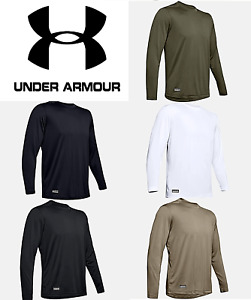 Under Armour Men's UA Tactical Tech Long Sleeve T Shirt FREE SHIP NEW 1248196 $20.99