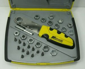 Zip Wrench The Squeeze Action Wrench Complete Set with Case Nice Condition
