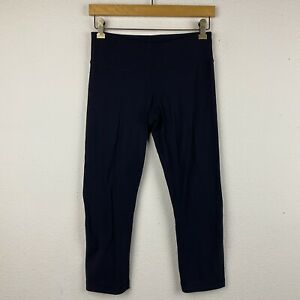 LULULEMON Size 6 Solid Black WUNDER UNDER Low Rise Workout Gym Crop Pants M40 $35.00