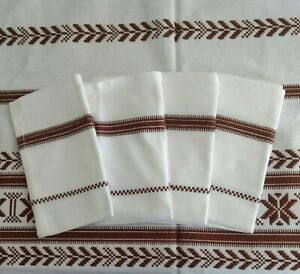 46quot; x 46quot; EMBROIDERED COTTON TABLECLOTH and 4 15quot; NAPKINS Hand Made in Hungary