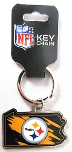 PITTSBURGH STEELERS Pennsylvania State Keychain NFL 3quot; x 2.25quot; gt;NEWlt; $5.95