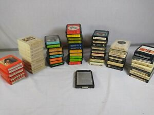 Choice Vintage 8 Track Tapes Various Famous Artists $.99 Each Double Sets 1.49 $1.49