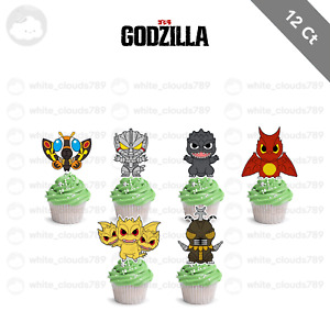 12 Godzilla King of Monsters Mothra Cupcake Cake Topper Food Pick Favor Party