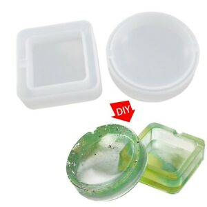 2PCs Ashtray Molds for Resin Casting Resin Silicone Molds