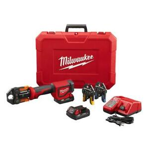 Milwaukee 18V Cordless Short Throw PEX Press Tool Kit 3 Jaws 2 Batteries Charger  $819.99