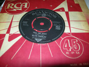 Elvis Presley 45 Puppet On A String Tell Me Why RCA Victor 1489, UK PLAYS GREAT