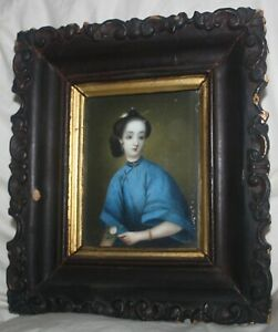 Antique Oil Painting on Bone $150.00