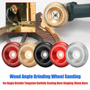 Tungsten Carbide Wood Sanding Dish Carving Shaping Disc For Angle Grinding Wheel