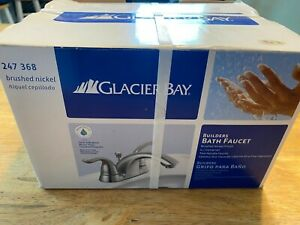 Glacier Bay Builders 247 368  Bath Faucet Sink New Brushed Nickel