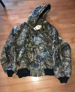 NWT Carhartt Mossy Oak Camo Jacket Mens 3XL Quilted Lined Hooded Winter J221-340