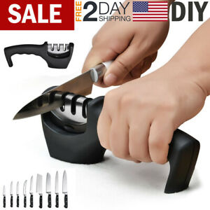 KNIFE SHARPENER Professional Kitchen Knives Sharp Blade Sharpening System Tool