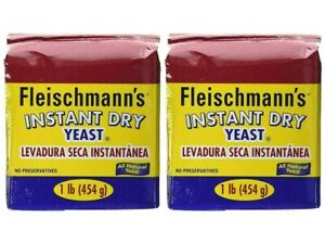2 BAGS FLEISCHMANN'S INSTANT DRY YEAST 1 LB FAST ACTING -2 LB IN TOTAL EXP 05/22