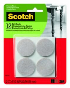 Scotch SP803-NA Felt Pads Round Protection From Scratches, Gray, 1.5 Inch