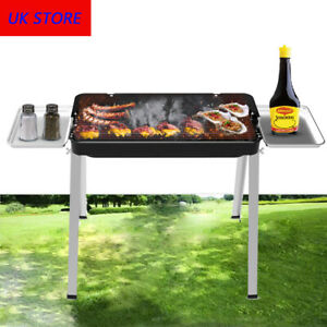 Outdoor Charcoal Barbecue Portable Pan Grill BBQ Stove Barbecue Shelf Stainless