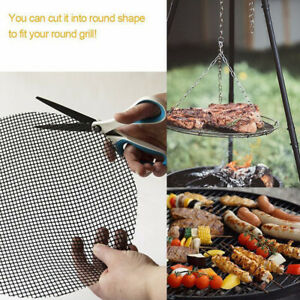 Outdoor Picnic Non-stick Reusable BBQ Grill Grid Net Safety Barbecue Mat