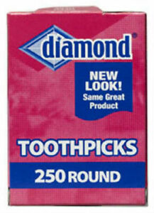 Diamond 41853 Round Toothpick, 250-Count