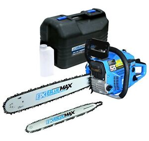 Blue Max 2 in 1 14quot; 20quot; Combination Gas Chainsaw Two Bars Two Chains amp; Case $159.99