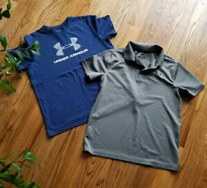Under Armour Golf Athletic Running Training Shirts Boy's Size L XL Lot of 2 $12.99