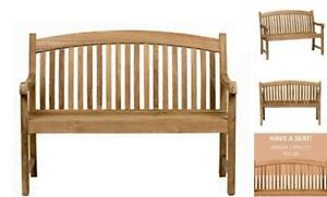 Amazonia Newcastle Patio Bench | Made of Real Teak | Ideal for Outdoors and Indo