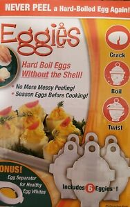 6 Pack Egg Cooker - Hard Boiled Eggs without the Shell Eggies free shipping NIB