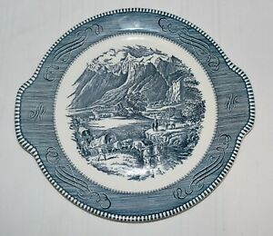 Currier and Ives Royal China serving plate with handles quot;The Rocky Mountainsquot; $10.99