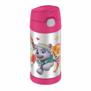 Thermos Funtainer Stainless Steel Water Bottle with Straw (12 oz, Paw Patrol)