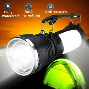 Solar Power Lights Lantern Lamp Rechargeable Battery Camping top Flashlight Z8R2