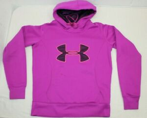 Womens Under Armour Cold Gear Storm Semi Fitted Pink Fuchsia Purple Hoodie SMALL $6.95