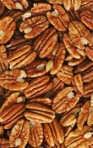 Fresh PECANS Jr Mammoth Roasted SALTED Halves Pcs No Shelled Choose Bulk Nuts