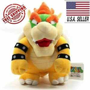 Super Mario Bros King Bowser Koopa 10 Plush Toy Stuffed Animal cute