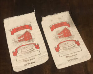 Nora Mill Flour Bags holds Net Wt. 2 Lbs 10x6 Inches