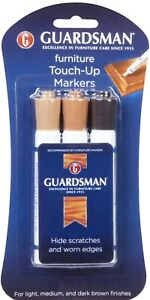 Wood Furniture TOUCH UP 3 MARKERS Scratch BROWN finish marker GUARDSMAN 465800