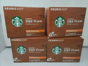 Starbucks Pike Place Medium Roast 4 Boxes 96 Pieces Total Coffee K-Cups