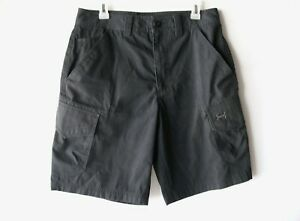 Under Armour HeatGear Ironsides Black Cargo Pocket Work Shorts Men's Size 32 EUC $14.99