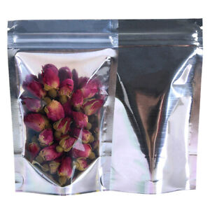 Mylar Smell Proof Bags – Resealable Food Bags Pack of 50 – Food Storage Bags