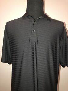 Nike Tiger Woods Collection Golf Polo Shirt Men's Medium Dri Fit Black Stretch $22.00