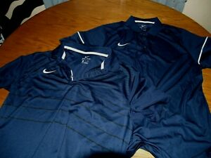 LOT OF 2 NIKE DRI FIT POLO SHIRTS SZ XL POLYESTER S S GOLF $5.50