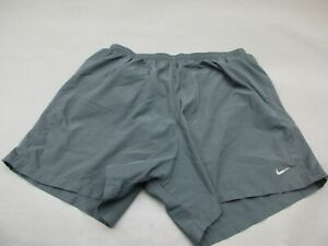 NIKE SIZE XL WOMENS GRAY ATHLETIC DRI FIT FITNESS RUNNING LINED TRACK SHORTS 274 $16.14