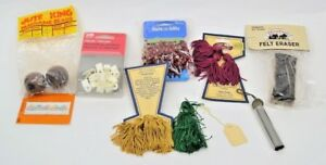 LOT OF 9 Sewing Supplies India House Tassels Plastic ClampsFelt EraserBeads $10.99