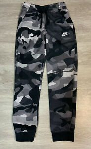 Nike Little Boys Camo Print Fleece Jogger Pants Black amp; Gray NWT Size 4 $30.00