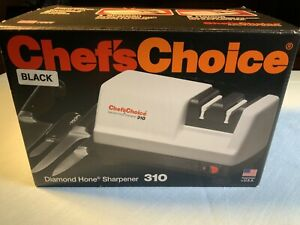Vintage Chef's Choice White Electric Diamond Home Knife Sharpener Model 310 NIB